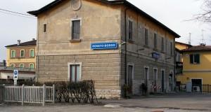 Il lato ferrovia della stazione di Rovato Borgo nel marzo 2010