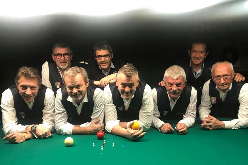I giocatori di biliardo del club di Rovato